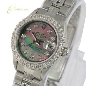 Rolex Lady Datejust Tahitian Diamond 26mm Watch